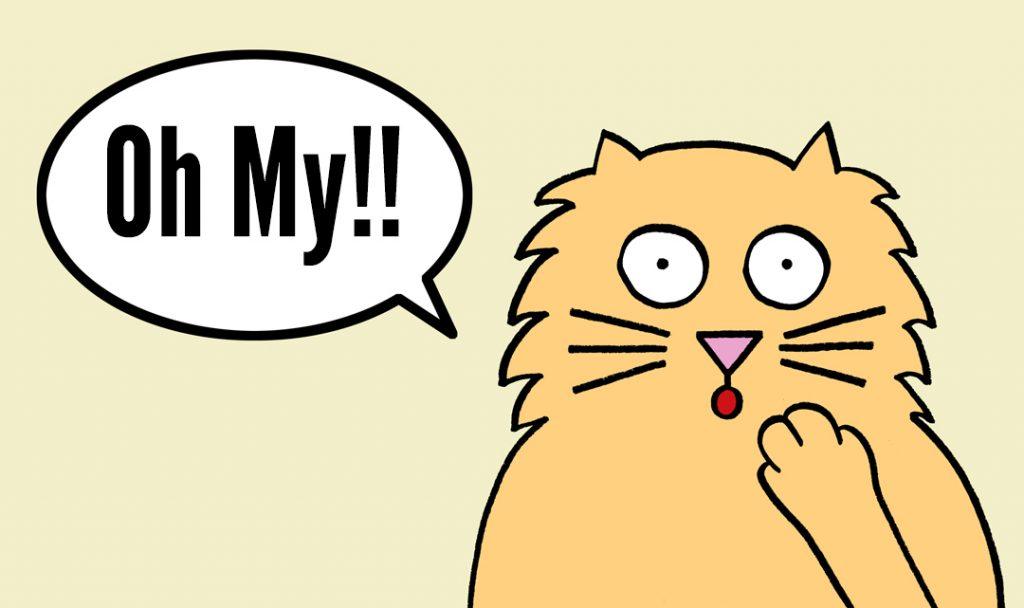 blog.cat saying oh my