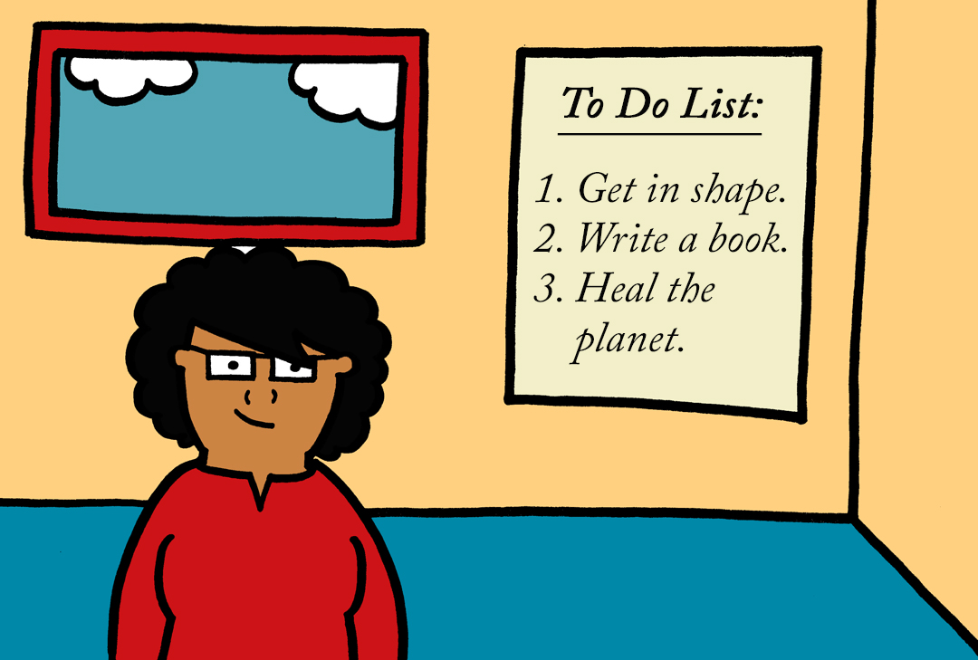 blog.woman with to do list